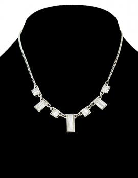 Rectangle Rhinestone Necklace