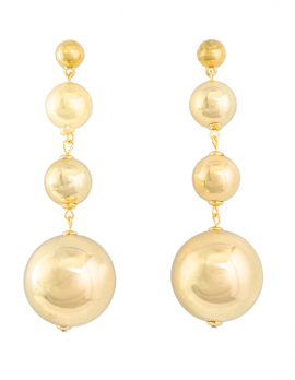 Tiered Ball Dangle Earrings