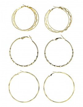 Hoop Earrings-Set of 3