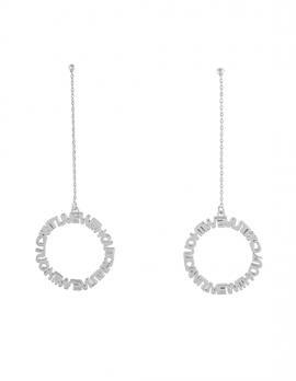 CANT LIVE WITHOUT Circle Drop Earrings