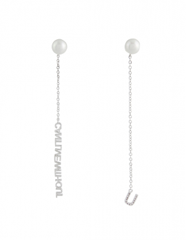 Silver-tone Charm Earrings