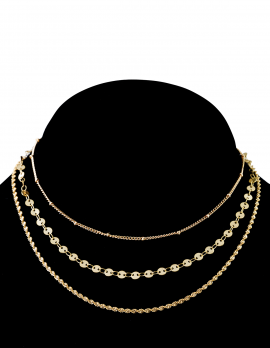 3 Chain Layer Choker Set