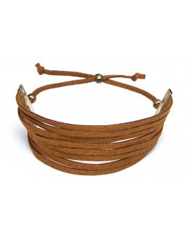 Faux-Suede Strap Bracelet