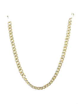 Faux-Rhinestone Link Necklace