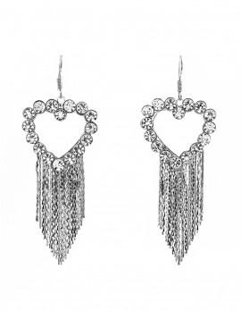 Rhinestone Heart Earrings